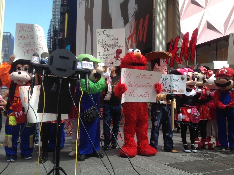 Costumed Characters Ally With Immigrant Rights Organization, Demand Fair Treatment