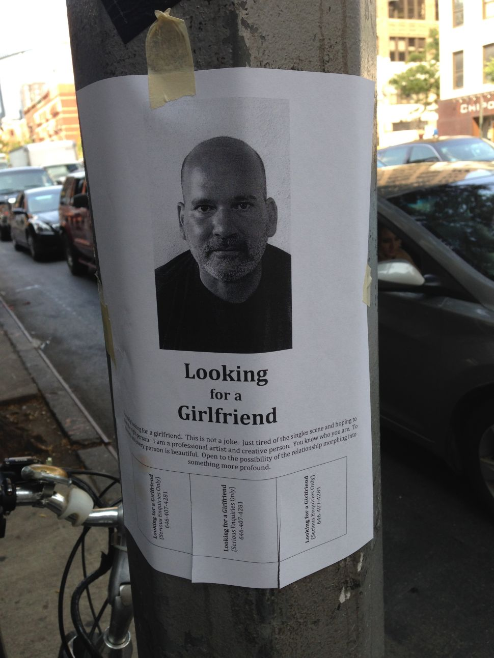 Man Hangs Thousands of Flyers in Attempt to Find Love