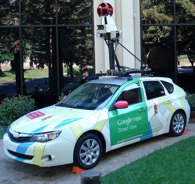 Google Street View Car Causes Accident While Driving in the Wrong Direction