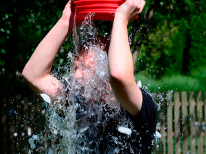 The ALS Ice Bucket Challenge. (Wikipedia)
