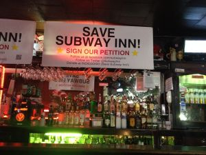 "Subway Inn launches the ""Save Subway Inn"" campaign in a fight to stay open. (Photo by Emma Hernandez)"