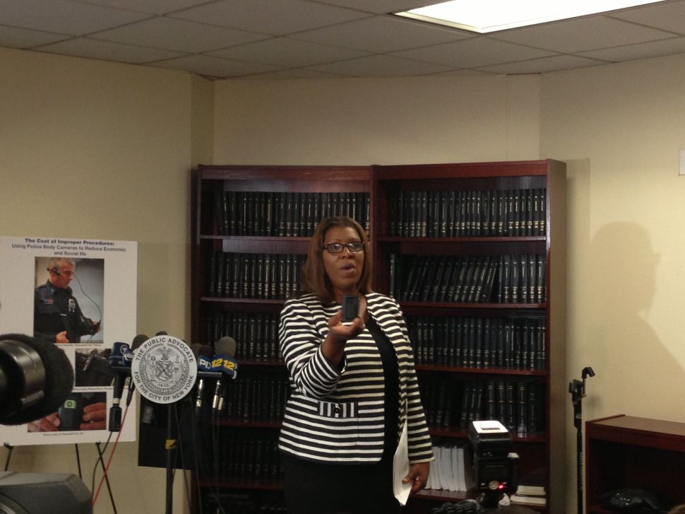 Letitia James Calls For $5 Million NYPD Body Camera Pilot