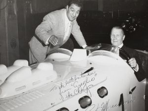 Marciano, Rocky. Inscribed photograph depicing the fighter with John Perona. (Courtesy Doyle New York.)