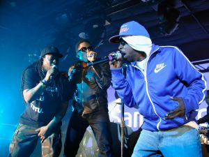 Jarobi White, Q-Tip, Phife Dawg and Ali Shaheed Muhammad of A Tribe Called Quest perform in Austin, Texas, at SXSW.