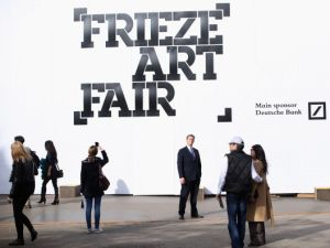Frieze Art Fair in London on October 18, 2013.