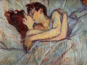 "Henri de Toulouse-Lautrec ""In Bed, the Kiss."" (Courtesy Tate Britain)"