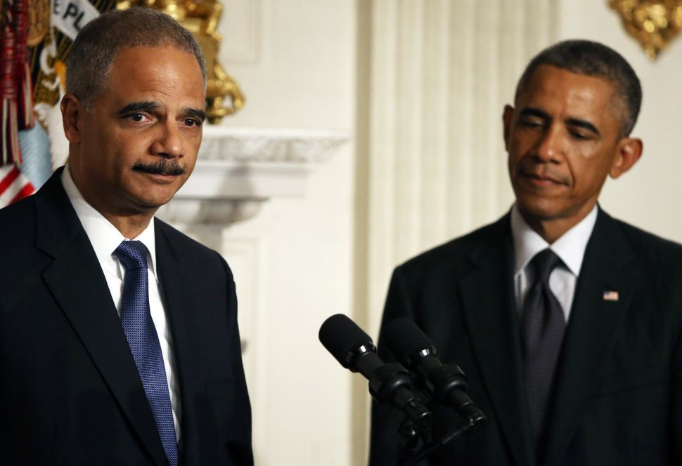 Eric Holder Runs from a Ticking Time Bomb
