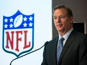 NFL Commissioner Roger Goodell is under fire for his response to the Ray Rice incident. (Photo by Andrew Burton/Getty Images)