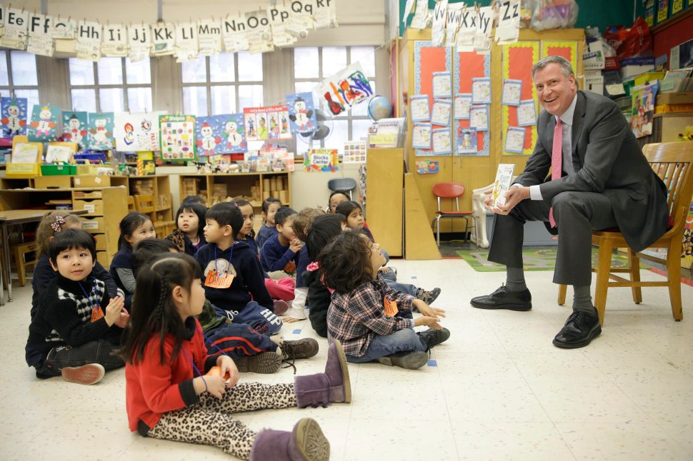Bill de Blasio Both Denies and Defends Pre-K Benefiting the Better-Off