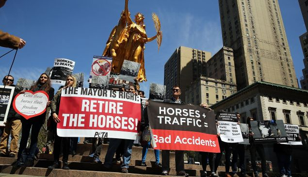A NYCLASS protest in April. (Photo: Spencer Platt/Getty Images)
