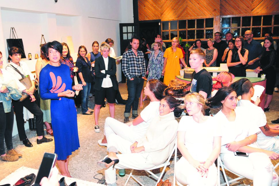 Women Get In and Out of Clothes at Soho Book Party