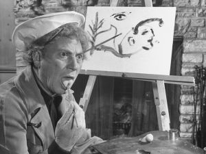 Harpo Marx painting. (Photo courtesy Getty Images)