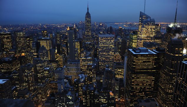 New York City, Top of the Rock, 2010. (Photo by Theo Wargo/Getty Images for TIVO)