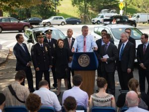 Mayor Bill de Blasio announces an expansion of speed cameras. (Photo: NYC Mayor's Office)