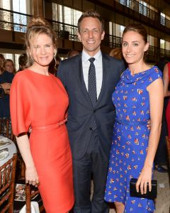 Renee Zellweger, Seth Meyers, Alexi Ashe at The 2014 Couture Council Luncheon Honoring Carolina Herrera