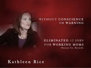 """A frame from Bruce Blakeman's """"What's Wrong With Her?"""" ad (Screengrab: Blakeman 2014 campaign)."""