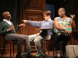 Phillip James Brannon, Jesse Pennington and Lance Coadie Williams in Bootycandy. (Photo by Joan Marcus)