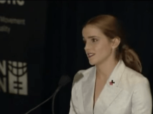 A UN speech delivered by Emma Waston went viral over the weekend. (Screengrab: YouTube)