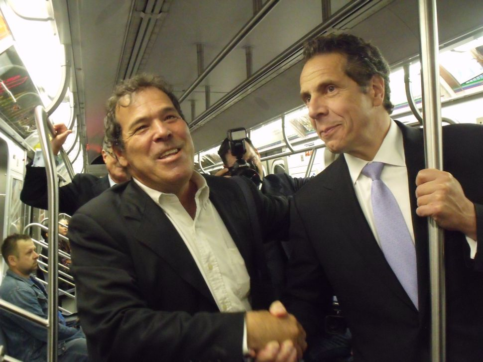 Opponents on a Train: Cuomo and Credico Take the Subway