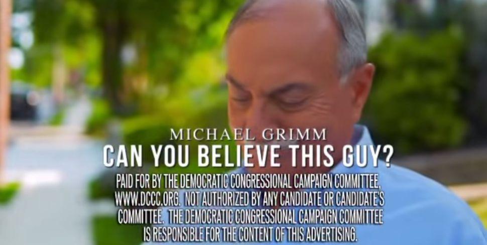 'Congressman Grimm Let Staten Island Down': DCCC Unloads New Attack Ad
