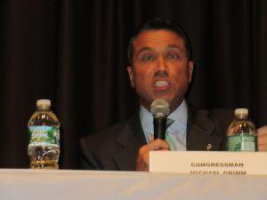 Former Congressman Michael Grimm at a debate in Bay Ridge in 2014.