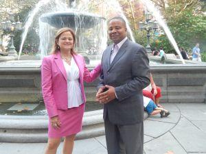 Melissa Mark-Viverito with Jesse Hamilton (Photo: Jesse Hamilton for Senate campaign).