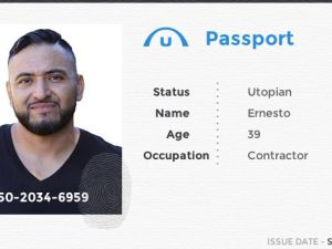 Ernesto is the new member of the Utopian family. ('Utopia')