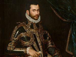 Jacopo Boncompagni (1574) by Scipione Pulzone, El Greco's artistic rival in 16th-century Rome.