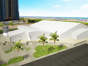 A rendering of Pulse Miami Beach's new tent for Indian Beach Park.