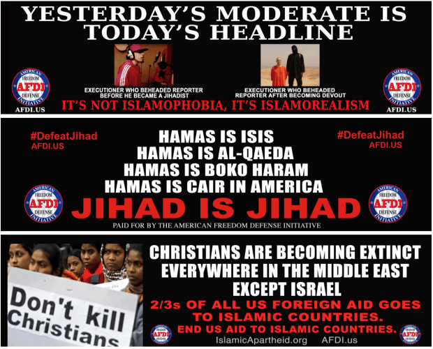 MTA Forced to Print Anti-Islamic Ads on Buses, Subways
