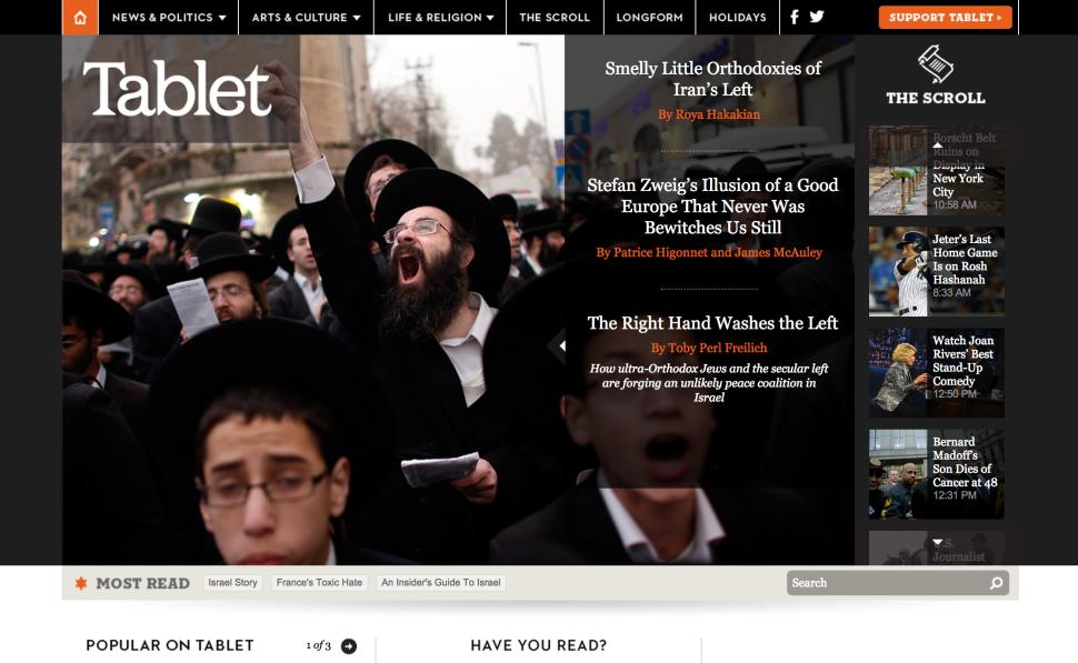 Hip But Hawkish: Tablet Lurches Rightward During Gaza-Israel War