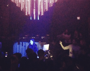 Zola Jesus performing at The Prabal Gurung after-party