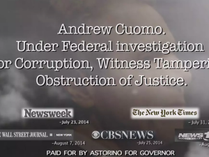 Andrew Cuomo as a mushroom cloud in a new Rob Astorino attack ad. (Screenshot)