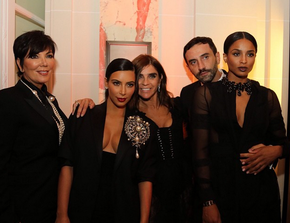 Carine Roitfeld Is Having a Party in Paris and Everyone's Wearing Kim K's Sheer Pants