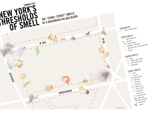 Kate McLean's Smellmap of Greenwich Village.