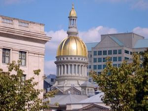 The state house in Trenton.