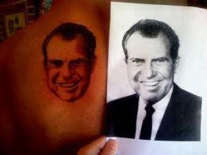 Roger Stone has the face of Richard Nixon tattooed onto his back. (Photo courtesy of Roger Stone)