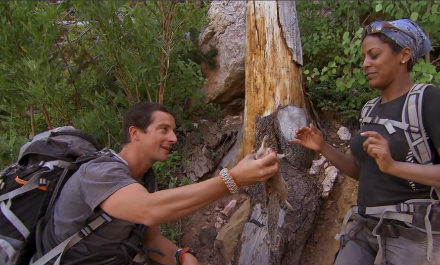 'Running Wild with Bear Grylls' Recap: Tamron Hall Guts a Squirrel For Survival