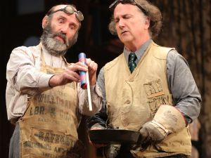 Patrick Kerr (l.) and Mark Linn-Baker play fireworks manufacturers, to explosive effect.