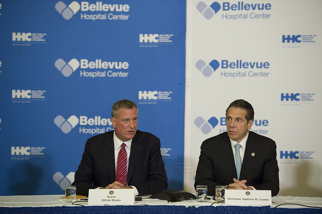 De Blasio and Cuomo Promise Incentives to Treat Ebola Abroad