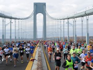The New York City Marathon will have fewer charity runners this year. (Maddie Meyer/Getty Images)