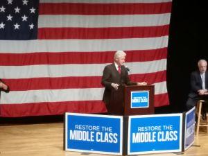 Bill Clinton tonight. (Photo: Ross Barkan)