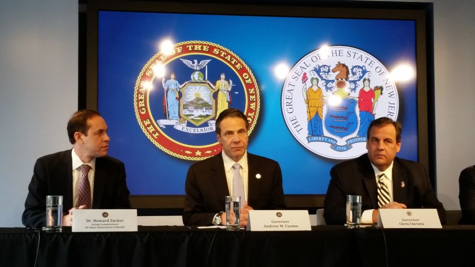 Cuomo and Christie Announce Mandatory Quarantines in Wake of Ebola Threat