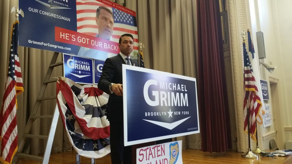 Michael Grimm, Railing Against the Far Left, Stages a Furious Campaign Rally