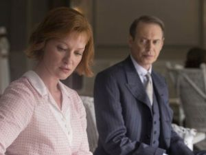 Fade away: Nucky Thompson (Steve Buscemi) and Gillian Darmody (Gretchen Moll) on Boardwalk Empire's series finale.