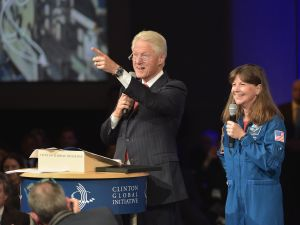 Former President Bill Clinton speaking at the Clinton Global Initiative meeting. (Photo: Michael Loccisano/Getty Images)