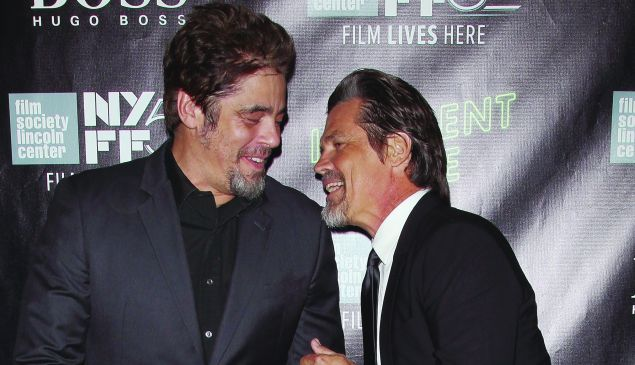 """Benicio del Toro and Josh Brolin attend the """"Inherent Vice"""" Centerpiece Gala Presentation & World Premiere during the 52nd New York Film Festival at Alice Tully Hall on October 4, 2014 in New York City. (Photo by Jim Spellman/WireImage)"""