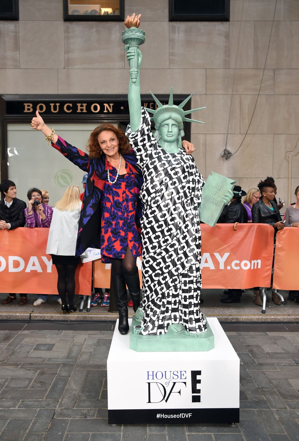 The Statue of Liberty Wears Diane von Furstenberg in NYC Today