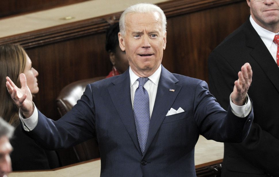 Joe Biden Isn't Running, But He Doesn't Seem to Be a Hillary Clinton Fan