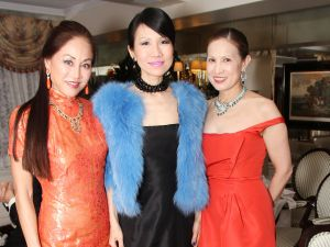 Lucia Hwong Gordon, Chiu-Ti Jansen, Carolyn Hsu-Baker. (Photo via Patrick McMullan)